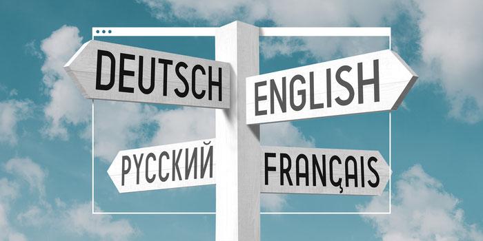 Selección de idiomas posibles para presentar en una página web multilingüe