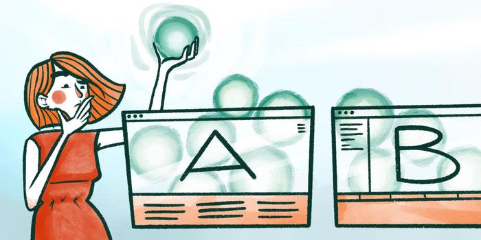 Ilustración de prueba de usuario A-B