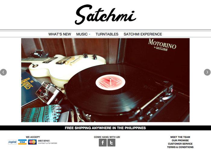 Ejemplo de sitio web con un fondo blanco.