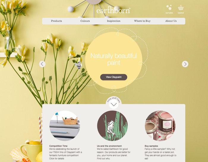 Combinación de tonalidades amarillas en una web.