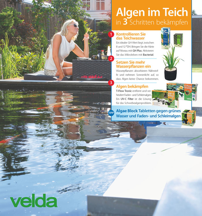 velda algae stop alles rund um den gartenteich. Black Bedroom Furniture Sets. Home Design Ideas