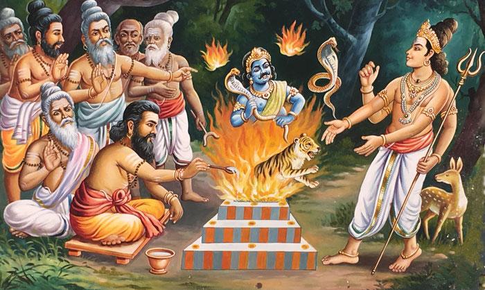 Das grundsätzliche Setting dieses Feuer-Rituals hat sich nicht groß verändert.