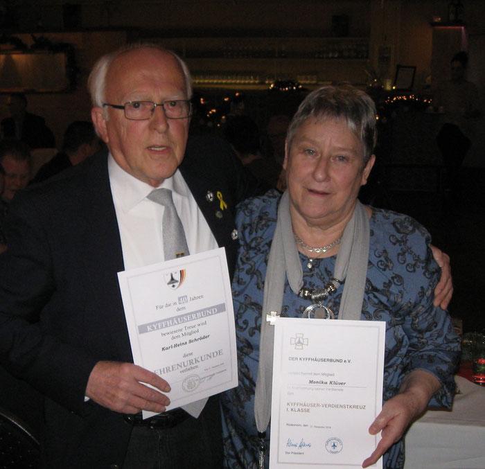 Karl-Heinz Schröder und Monika Klüver