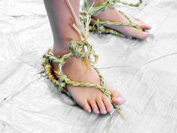 完成した草鞋(過去に開催したWS記録より)