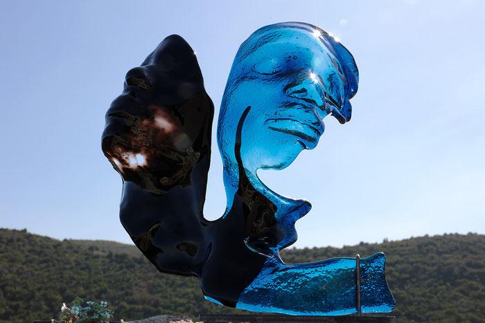 Visage Massa Bleu Noir