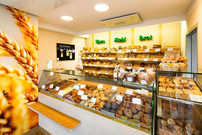 Gestaltung und Herstellung des neuen Backshops der Mühlenbäckerei (Design: Linden | Boje)