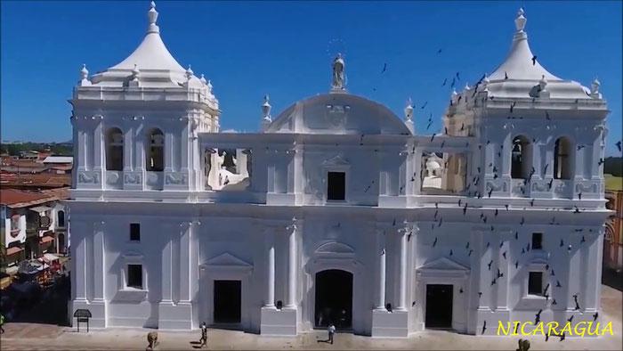 Basilique Cathédrale de la Asunción dans la ville de León
