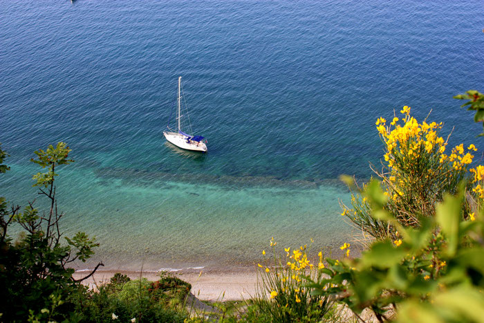 Bele Skale Naturstrand, zu Fuß oder mit dem Boot erreichbar