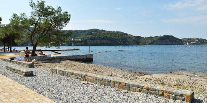 Strunjan, the free beach
