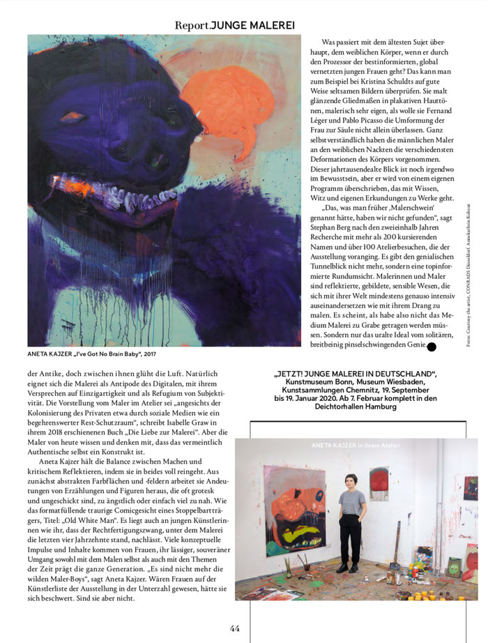 MONOPOL Magazin für Kunst und Leben, September 2019, Text: Silke Hohmann