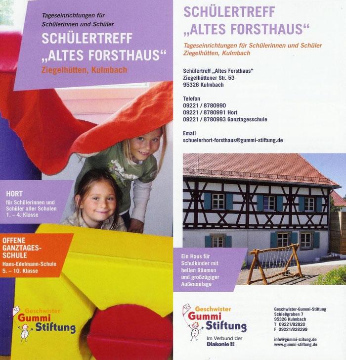 """Schülertreff """"Altes Forsthaus"""" ,  Ziegelhütten Kulmbach"""