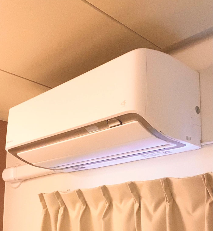 換気機能付きエアコン