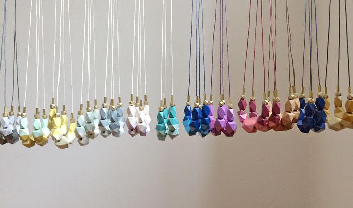 Holz-Kollektion Halsketten handbemalt