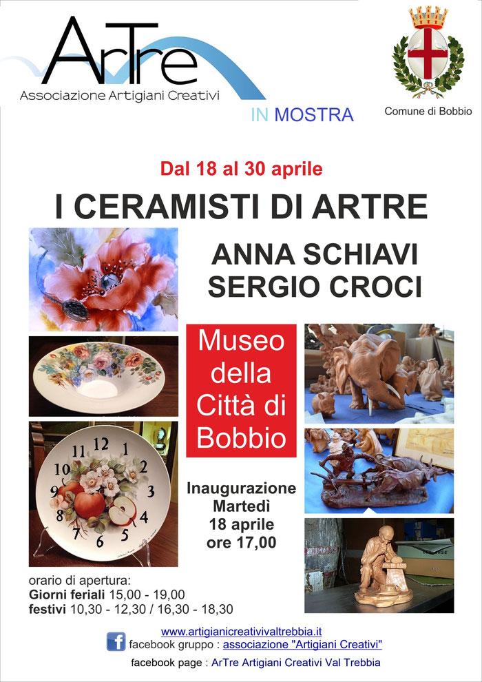 Bobbio: Mostra di Ceramiche di Anna Schiavi e Sergio Croci - Museo della Città - dal 18 al 30 aprile
