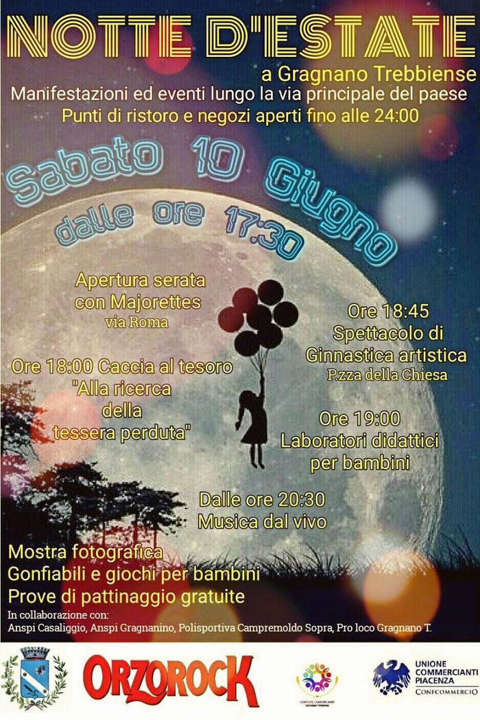 """gli """"Artigiani Creativi"""" di ArTre  a Gragnano Trebbiense, sabato 10 giugno 2017 dalle ore 17,30 alle 24,00 NOTTE D'ESTATE."""