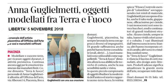quotidiano Libertà - Anna Gugliemetti