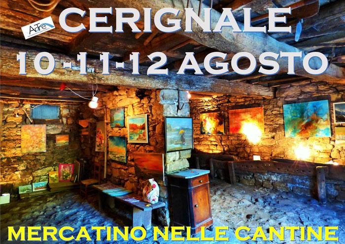ArTre a Cerignale 10-11-12 agosto Mercatino nelle Cantine