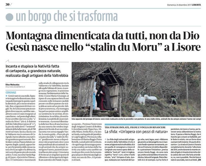 quotidiano LIBERTA' -  24 dicembre 2017