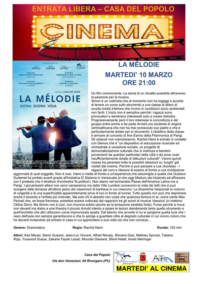 LA MÉLODIE - 10 marzo ore 21:00 - Rivergaro (PC) Casa del Popolo – Rassegna Cinematografica
