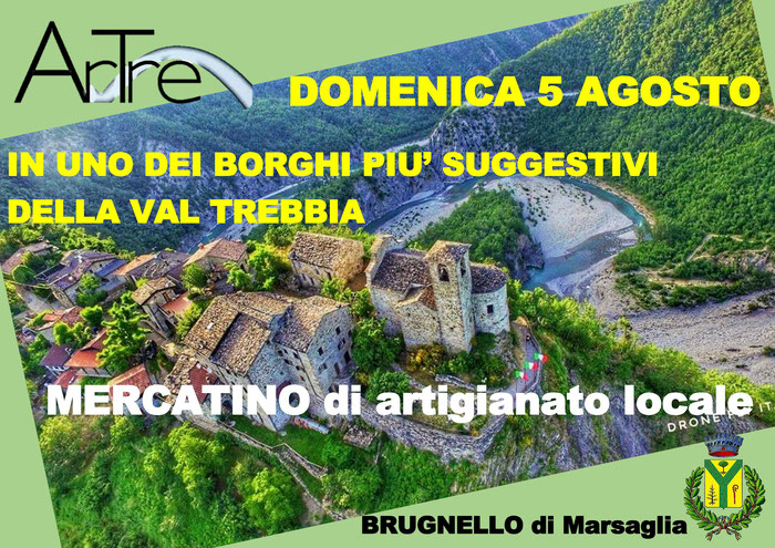 Brugnello di Marsaglia (PC) - mercatino di artigianato locale 5 agosto 2018