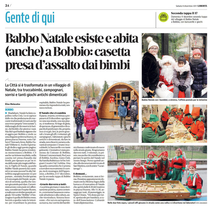 quotidiano LIBERTA' -  9 dicembre 2017
