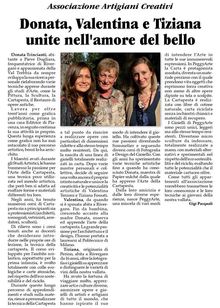 settimanale La Trebbia 6 novembre 2014