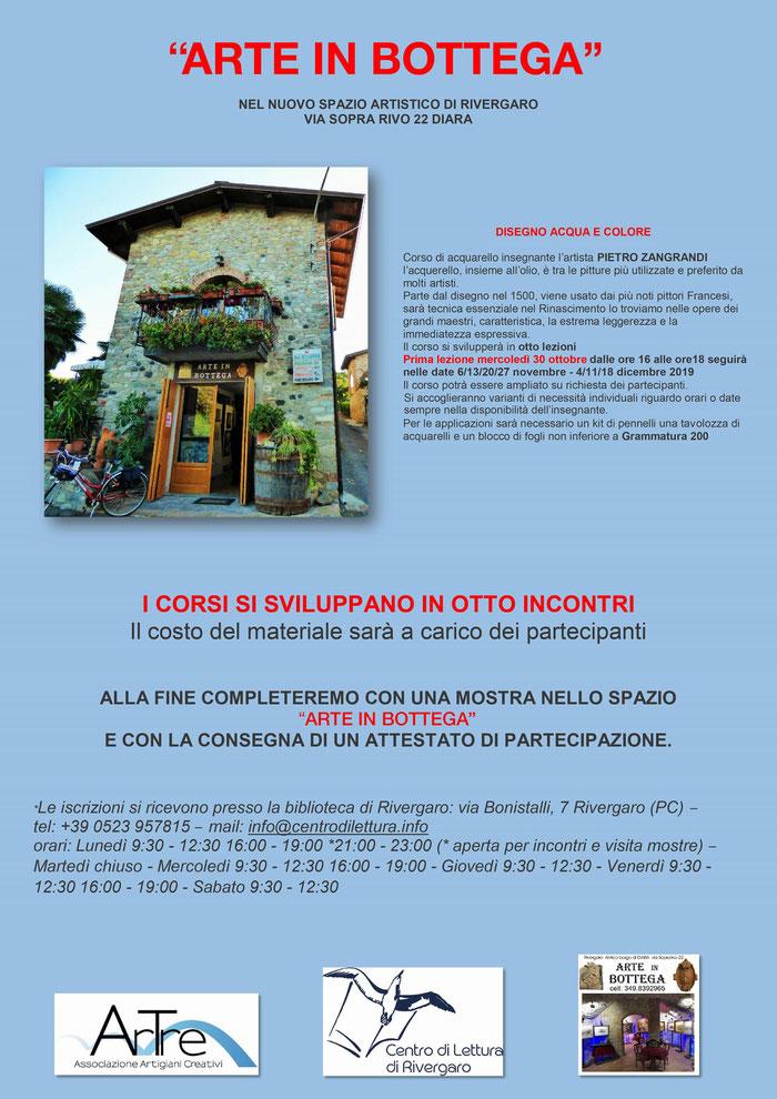 corsi 2019/20 - ArTre a Rivergaro con Arte in Bottega - docente: Pietro Zangrandi