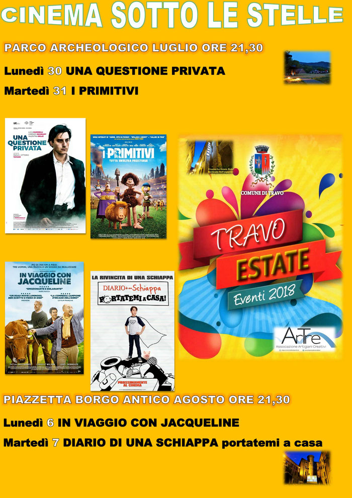 Travo cinema sotto le stelle estate 2018