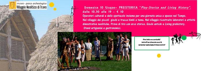 Travo - Villaggio Neolitico 10 giugno - esposizione e laboratori artigianali