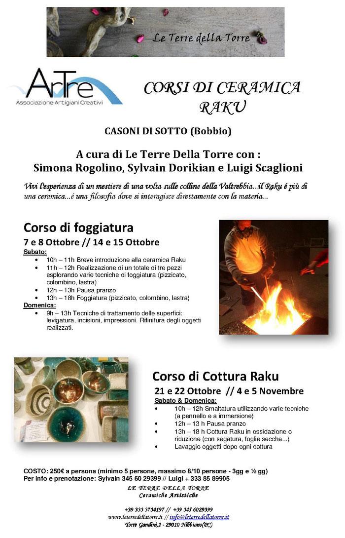 CORSO DI CERAMICA RAKU A cura di Le Terre Della Torre con : Simona Rogolino, Sylvain Dorikian e Luigi Scaglioni