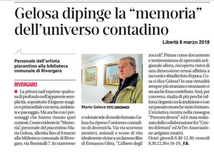 quotidiano libertà - 8 febbraio 2018 Mario Gelosa