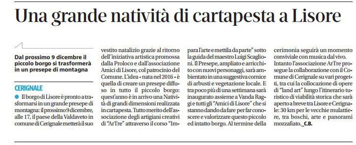 quotidiano LIBERTA' -  1 dicembre 2017