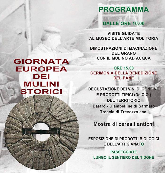 Gli Artigiani di ArTre a    Nibbiano 19 maggio   Giornata Europea  dei Mugnai   Mulino Borgo Lentino