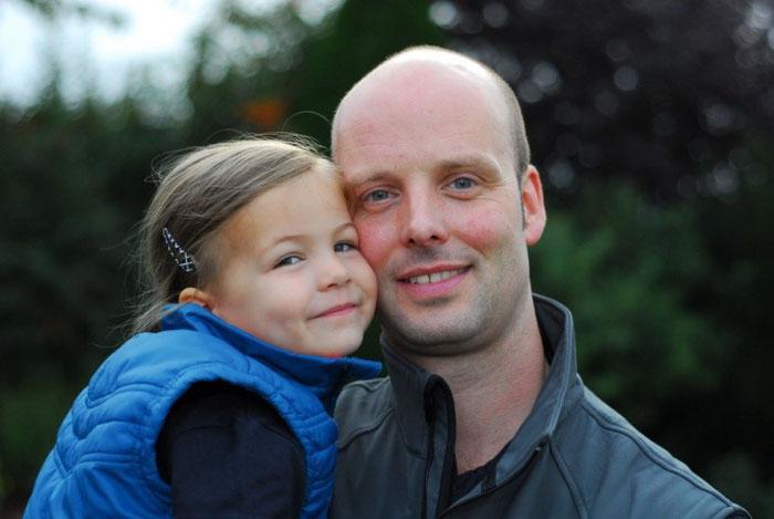 Ralf Bischoff und Tochter Tida