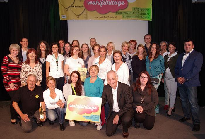 Die Mitwirkenden der Wohlfühltage Oktober 2017 in der Stadtgalerie Mödling