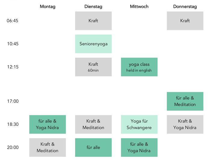 Yoga in Baden, Yoga in Zürich (Viniyoga)