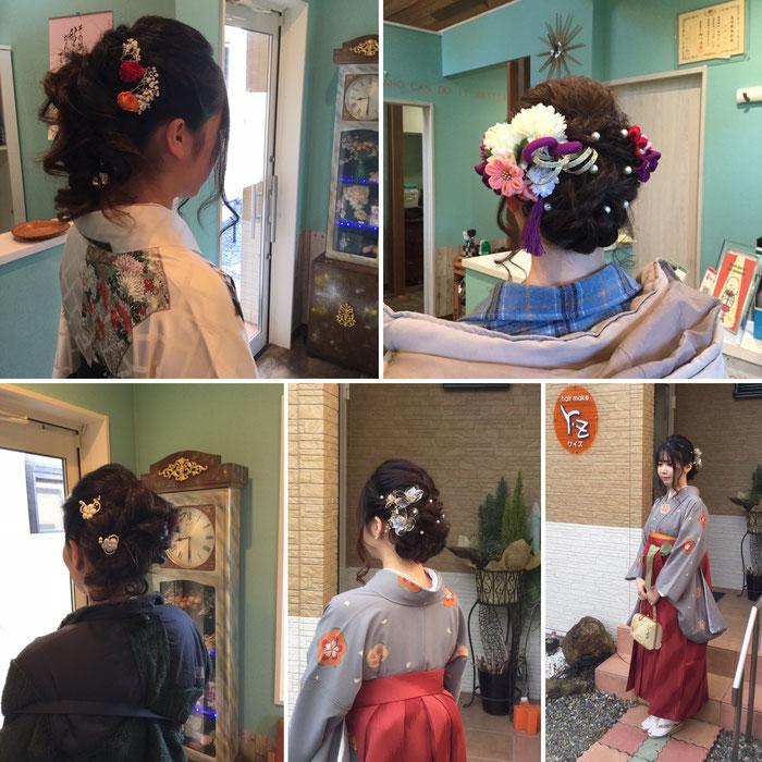 卒業式の着付けとヘアメイク