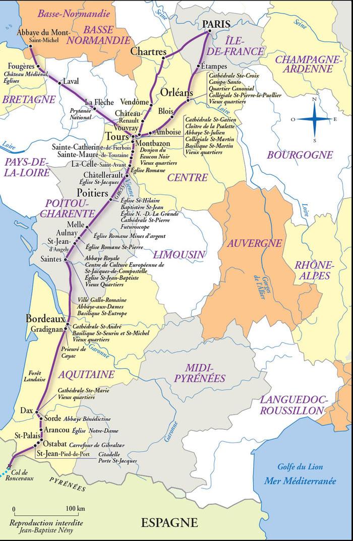 Chemin saint jacques de Compostelle via TOURS