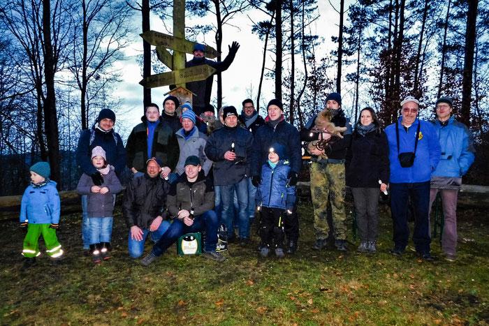 Die TeilnehmerInnen der Winterwanderung