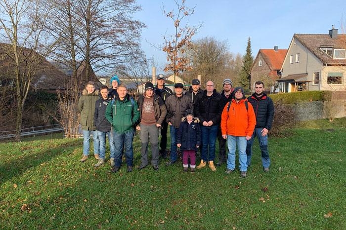 Die Teilnehmer der JGB Winterwanderung 2019