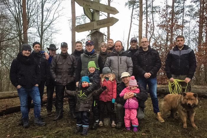 Die Teilnehmer der JGB Winterwanderung 2018