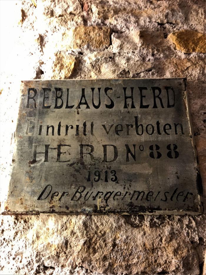 Panneau mentionnant la préscence d'un troupeau de Phylloxéra à Mittelbergheim