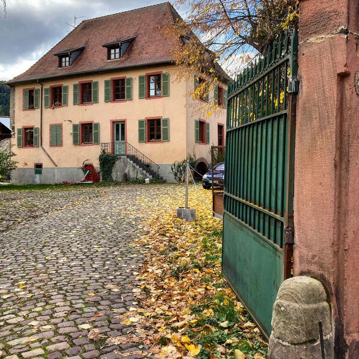 L'ancienne propriété des Teutoniques à Kaysersberg - photographie octobre 2020 : www.cheminsbioenalsace.fr