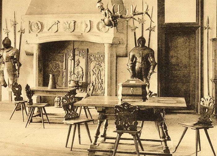La cheminée du Wagkeller reconstituée au Musée Unterlinden en 1925