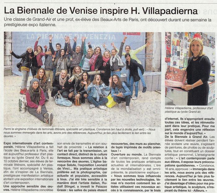 10 octobre 2013, Biennale de Venise, Ouest-France