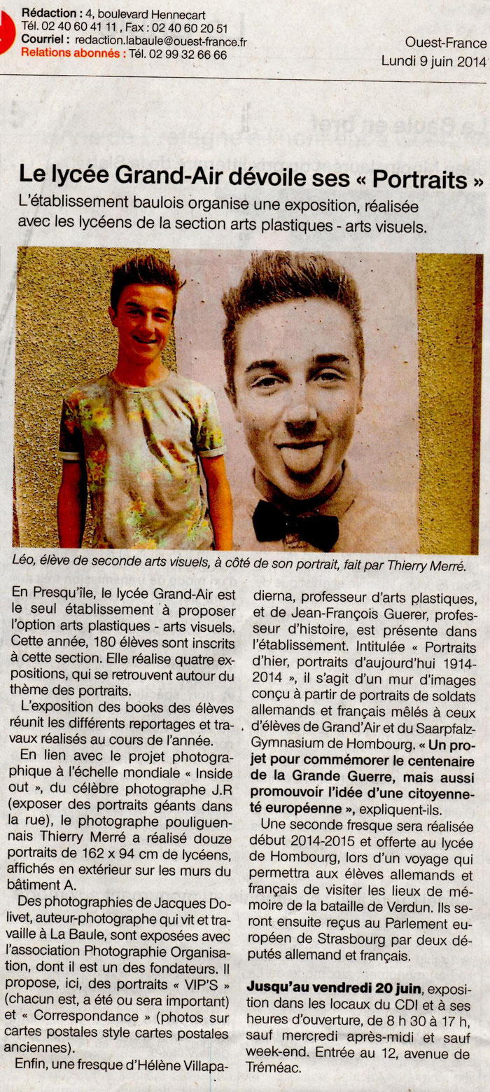 9 juin 2014, Inside Out, Ouest-France