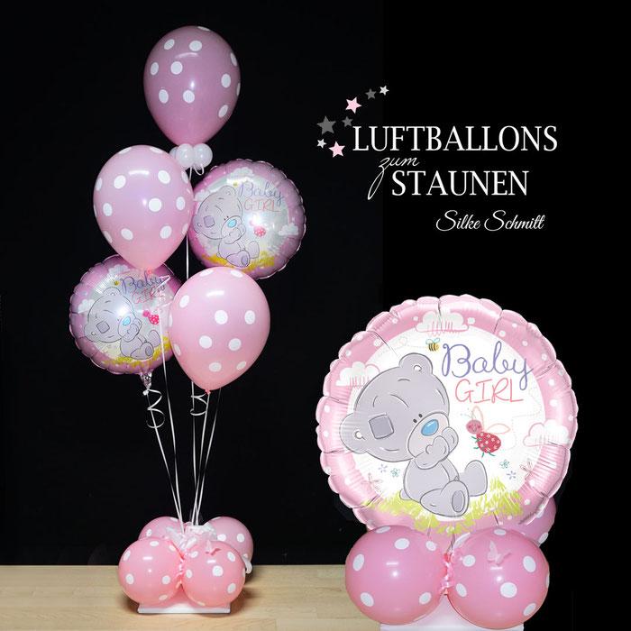 Ballon Luftballon Folienballon Heliumballon Latex Baby Girl Boy Junge Mädchen rosa blau Geburt Taufe Nachwuchs Tochter Sohn Party Babyparty Baby Feier Deko Dekoration Geschenk Mitbringsel Überraschung Krankenhaus Versand