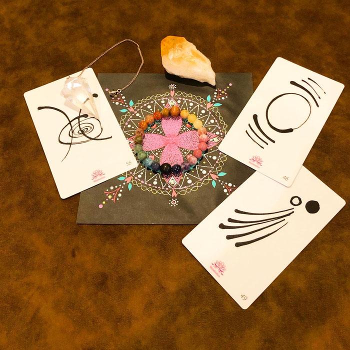 屋久杉富士溶岩天然石ブレス作り体験+マンダラ付き祭壇作りワーク