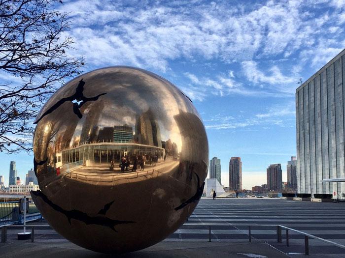 久住有生の施工作品 国連本部(米ニューヨーク) 国連加入60周年記念行事イベント。