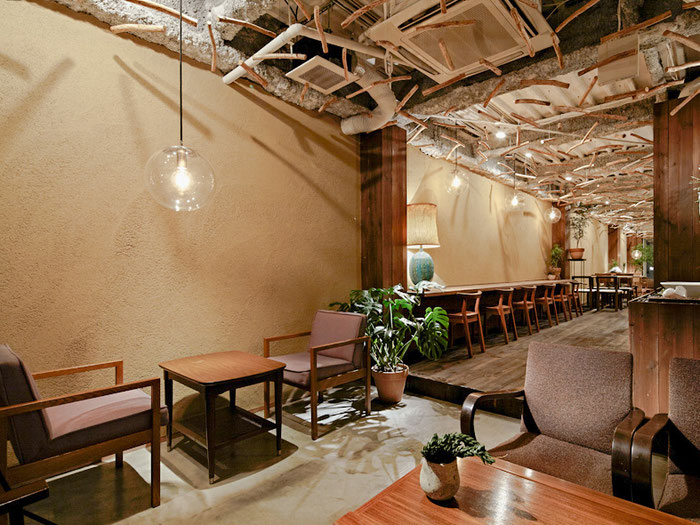左官職人 久住有生(くすみ なおき)施工作品 飲食店『FOREST Cafe&Dining』